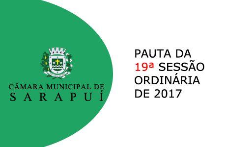 PAUTA DA 19ª SESSÃO ORDINÁRIA DE 2017 Em atenção ao que dispõe o artigo 182 e parágrafo único do Regimento Interno, torna-se pública a Pauta da 19ª Sessão Ordinária do […]