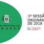 Pauta da 3ª sessão ordinária de 2018