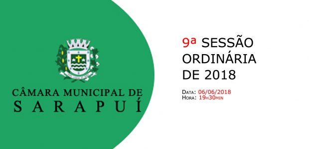 PAUTA DA 9ª SESSÃO ORDINÁRIA DE 2018 Em atenção ao que dispõe o artigo 182 e parágrafo único do Regimento Interno, torna-se pública a Pauta da 9ª Sessão Ordinária do […]