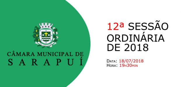 PAUTA DA 12ª SESSÃO ORDINÁRIA DE 2018 Em atenção ao que dispõe o artigo 182 e parágrafo único do Regimento Interno, torna-se pública a Pauta da 12ª Sessão Ordinária do […]