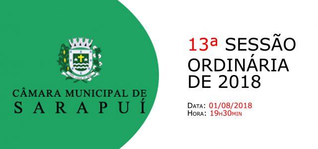 PAUTA DA 13ª SESSÃO ORDINÁRIA DE 2018 Em atenção ao que dispõe o artigo 182 e parágrafo único do Regimento Interno, torna-se pública a Pauta da 13ª Sessão Ordinária do […]