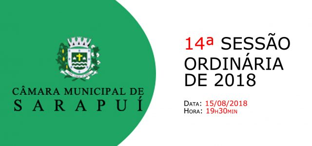 PAUTA DA 14ª SESSÃO ORDINÁRIA DE 2018. Em atenção ao que dispõe o artigo 182 e parágrafo único do Regimento Interno, torna-se pública a Pauta da 14ª Sessão Ordinária do […]