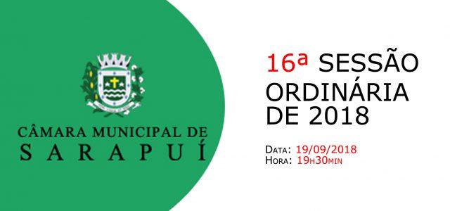 PAUTA DA 16ª SESSÃO ORDINÁRIA DE 2018 Em atenção ao que dispõe o artigo 182 e parágrafo único do Regimento Interno, torna-se pública a Pauta da 16ª Sessão Ordinária do […]