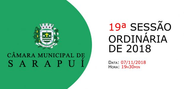 PAUTA DA 19ª SESSÃO ORDINÁRIA DE 2018 Em atenção ao que dispõe o artigo 182 e parágrafo único do Regimento Interno, torna-se pública a Pauta da 19ª Sessão Ordinária do […]