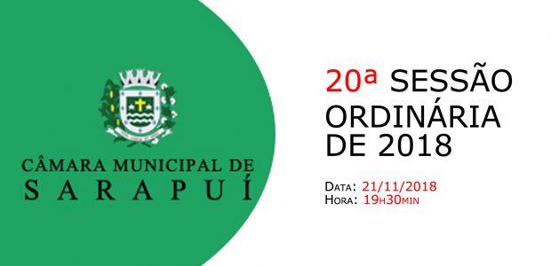 PAUTA DA 20ª SESSÃO ORDINÁRIA DE 2018 Em atenção ao que dispõe o artigo 182 e parágrafo único do Regimento Interno, torna-se pública a Pauta da 20ª Sessão Ordinária do […]