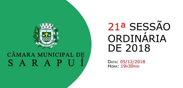 PAUTA DA 21ª SESSÃO ORDINÁRIA DE 2018 Em atenção ao que dispõe o artigo 182 e parágrafo único do Regimento Interno, torna-se pública a Pauta da 21ª Sessão Ordinária do […]