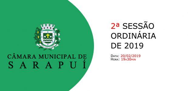 PAUTA DA 2ª SESSÃO ORDINÁRIA DE 2019 Em atenção ao que dispõe o artigo 182 e parágrafo único do Regimento Interno, torna-se pública a Pauta da 2ª Sessão Ordinária do […]