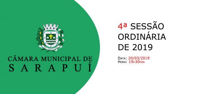PAUTA DA 4ª SESSÃO ORDINÁRIA DE 2019 Em atenção ao que dispõe o artigo 182 e parágrafo único do Regimento Interno, torna-se pública a Pauta da 4ª Sessão Ordinária do […]