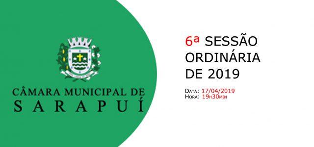 PAUTA DA 6ª SESSÃO ORDINÁRIA DE 2019. Em atenção ao que dispõe o artigo 182 e parágrafo único do Regimento Interno, torna-se pública a Pauta da 6ª Sessão Ordinária do […]