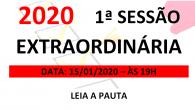 PAUTA DA 1ª SESSÃO EXTRAORDINÁRIA DE 2020 Em atenção ao que dispõe o artigo nº 228, Parágrafo Único inciso I, art. 227, e art. 229 do Regimento Interno desta Casa, […]