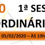 Pauta da 1ª sessão ordinária de 2020