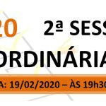 Pauta da 2ª sessão ordinária de 2020