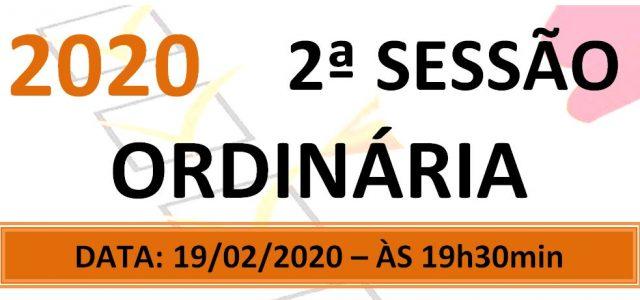 PAUTA DA 2ª SESSÃO ORDINÁRIA DE 2020 Em atenção ao que dispõe o artigo 182 e parágrafo único do Regimento Interno, torna-se pública a Pauta da 2ª Sessão Ordinária do […]
