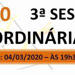 Pauta da 3ª sessão ordinária de 2020