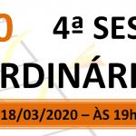 Pauta da 4ª sessão ordinária de 2020.