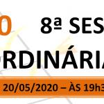Pauta da 8ª sessão ordinária de 2020