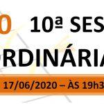 Pauta da 10ª sessão ordinária de 2020