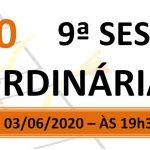 Pauta da 9ª sessão ordinária de 2020