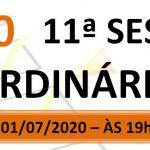 Pauta da 11ª sessão ordinária de 2020