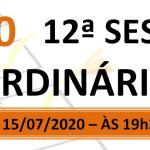 Pauta da 12ª sessão ordinária de 2020