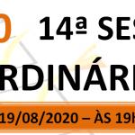 Pauta da 14ª sessão ordinária de 2020