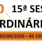 Pauta da 15ª sessão ordinária de 2020