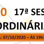 Pauta da 17ª sessão ordinária de 2020
