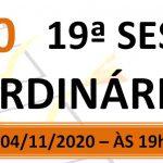 Pauta da 19ª sessão ordinária de 2020