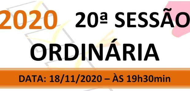 PAUTA DA 20ª SESSÃO ORDINÁRIA DE 2020 Em atenção ao que dispõe o artigo 182 e parágrafo único do Regimento Interno, torna-se pública a Pauta da 20ª Sessão Ordinária do […]