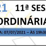 Pauta da 11ª sessão de 2021