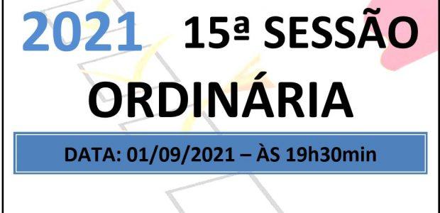 PAUTA DA 15ª SESSÃO ORDINÁRIA DE 2021 Em atenção ao que dispõe o artigo 182 e parágrafo único do Regimento Interno, torna-se pública a Pauta da 15ª Sessão Ordinária do […]