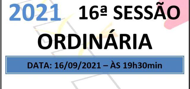 PAUTA DA 16ª SESSÃO ORDINÁRIA DE 2021 Em atenção ao que dispõe o artigo 182 e parágrafo único do Regimento Interno, torna-se pública a Pauta da 16ª Sessão Ordinária do […]